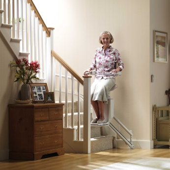 Curved Standing Stair Lift