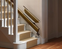 Stairlift Rail at Bottom of Stairs
